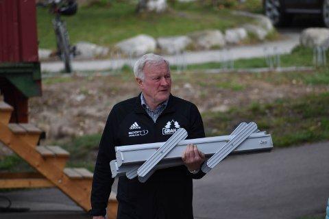 TRAPPER NED: Daglig leder i Gran IL, Harald Bjøralt, gir stafettpinnen videre.