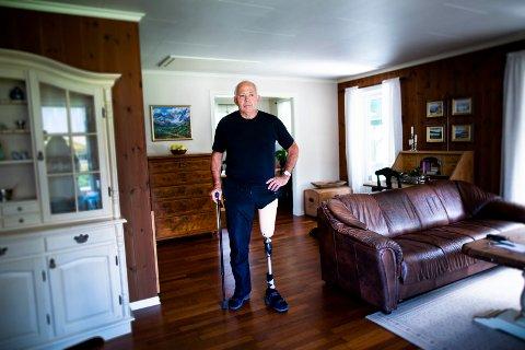 VIL GÅ IGJEN: – Jeg har et mål om å gå igjen uten krykker, sier Simen Brænden.