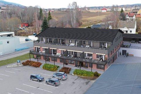ILLUSTRASJON: Slik skal leilighetsbygget Nordre Torv i Brandbu bli.