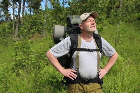 Møtte veggen: Jan Erik Oppen skulle gå Lunner rundt, men traff dårlig vann og måtte hentes hjem fra Nordmarka. Planen er å begynne på der han slapp, om ikke så lenge.