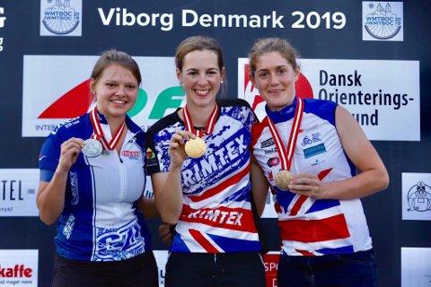 MEDALJE: Emily Benham Kvåle får etter verdensmesterskapet med seg fire gullmedaljer hjem.