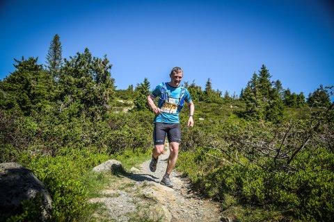 MARATONMANN: Peter Magnus Prestesæter fra Grymyr har løpt flere ultraløp også. Her fra Ultrabirken i 2018.
