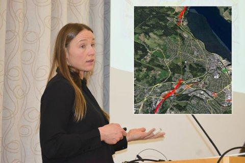 LEGGES FRAM: Therese Høy og Statens vegvesen kommer til felles formannskapsmøte i Gjøvik og Ringsaker onsdag for å presentere sine planer for riksveg 4.