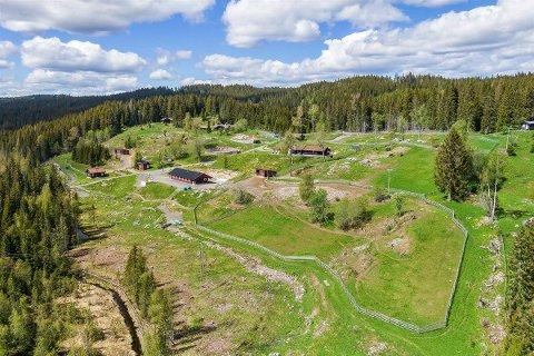 SOLGT: Den 65 mål store eiendommen ble den desidert dyreste overdragelsen i januar. Over 14 millioner kroner måtte de nye eierne ut med for å sikre seg det flotte stedet i Lunner.