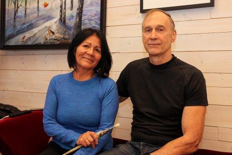 MØTTES GJENNOM KUNSTEN: Mercedes Cashago Lokrheim og Tor Lokrheim møttes på grunn av kunsten.