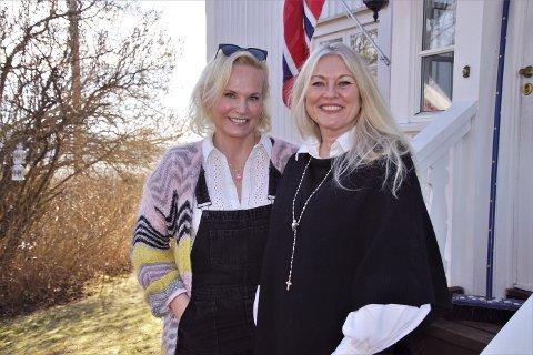 INSPIRASJON: Ingeborg Myhre og Eli Kari Gjengedal laget nylig en episode av sin podcast «Eli Kari og Ingeborg». Denne ble produsert i Ingeborgs idylliske feriehus Nesheim i Røykenvik.