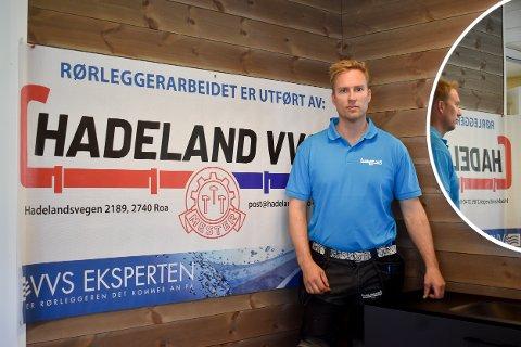ENDRET FIRMANAVN: Henning Brokerud har endret firmanavn til Hadeland VVS AS. Han har i 2021 drevet i 20 år i rørleggerbransjen.