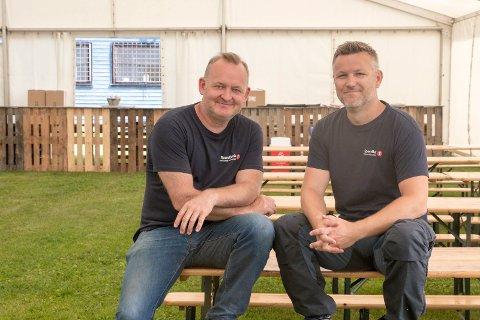 KLARE: Espen Hagen og Per Anders Bjørklund forbereder seg for festival i august.