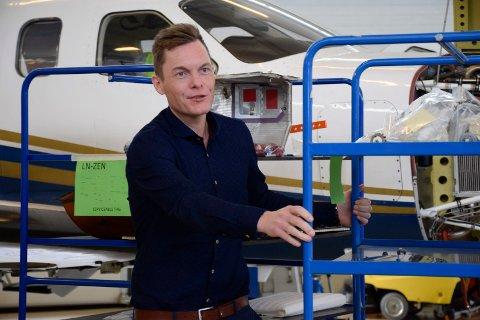 NY JOBB: Henrik Melbostad blir direktør for forretningsutvikling i det nyetablerte firmaet DAO Aviation på Eggemoen.