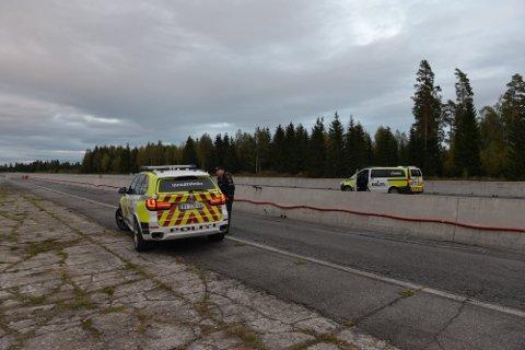 HARDT SKADET: En totning fikk omfattende bruddskader i ansiktet og overkroppen under ulykken på Gardermoen søndag ettermiddag.