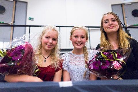 Semifinalister: Hedda O. Røsnæs fra Rødsberg (fv) og Strupeelevene Rebekka Holt og Elise Hallman.