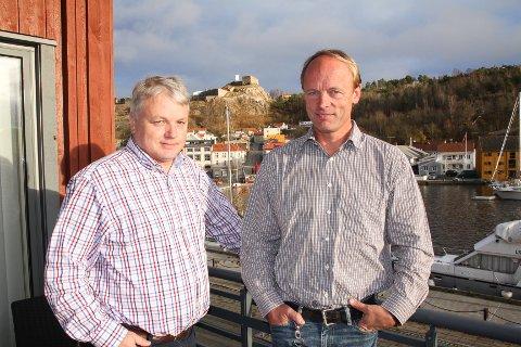 """Martin Grimsrud og Carl Haakon """"Bobbo"""" Garder i G-G Gruppen."""