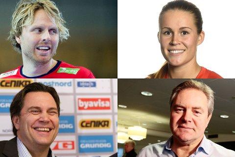 TIPPER UTFALLET: Erlend Mamelund (øverst til venstre), Martine Moen, Frode Scheie og Bent Svele forteller HA hva de tror om kveldens semifinale, HTH-Fyllingen Bergen.