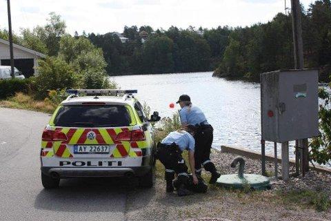 BLE DRUKNET: Det var i juli i fjor sommer at hunden Lucas ble druknet ved Krapfoss i Moss. Senere kunne politiet meldet at en person hadde tilstått dumpingen av hunden. Nå er vedkommende dømt i retten.