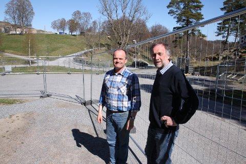 - Russetreffet er positivt for Halden, sier Magne Rannestad (til venstre) og Morten Kjølbo. Foto: Kristian Bjørneby.