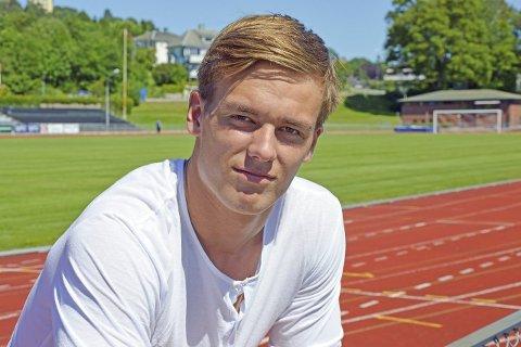 Høye mål: Alexander Skorpen (17) satser høyt som spydkaster. Nå venter U-VM i Colombia.