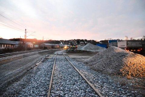 TØMMERTERMINAL: Her i dette området ønsker Glommen Skog å etablere en tømmerterminal og har det siste året kjøpt opp tomter i det aktuelle området.