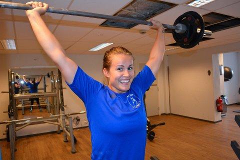 Har grunn til å smile! Martine Moen fra HK Halden er tatt ut på det norske rekruttlandslaget i håndball.
