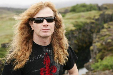 ØNSKE TIL VÆRGUDEN: Thrashmetalens gudfar, Dave Mustaine, skryter Tons of rock-programmet opp i skyene, men ønsker seg sol under festivalen 23. 25.juni.