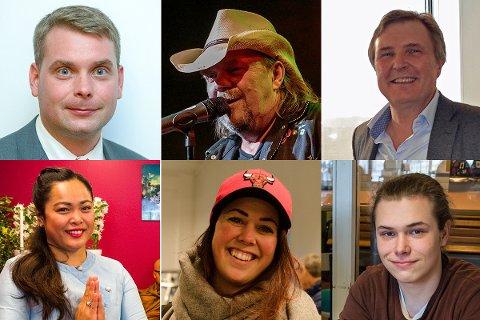 NAVNETOPPEN: Disse seks personene har alle Haldens vanligste etternavn, nemlig Johansen.