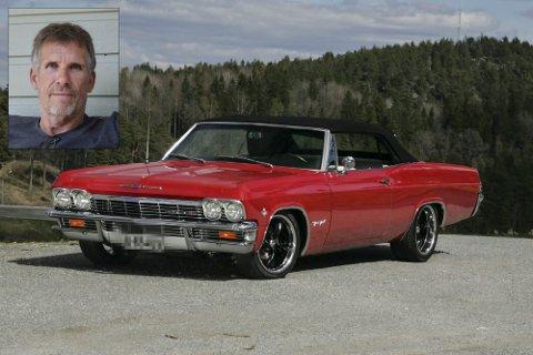 ETTERLYST: Denne Chevrolet Impalaen 1965-modell forsvant i København. Jørn Lettenstrøm (innfelt) innrømmer at han er i ferd med å miste håpet om å få den tilbake.Foto: Anja Lillerud/Privat
