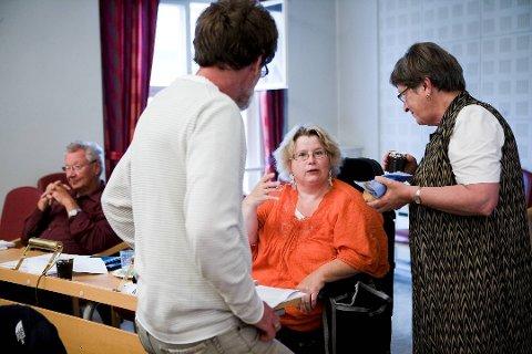 FAST PLASS: I ett år har jeg hatt min egen plass bakerst i kommunestyresalen. Og med glede ser jeg at flere politikere får øynene opp for universell utforming. En er opptatt av teleslyngeanlegget, en annen av lys og mulighet for å bruke skjerm til å få opp forslagene som vi vedtar, skriver Anne Karin Johansen.