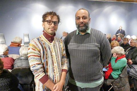BOKBAK: Demian Vitanza (til venstre) ble bokbadet av Shan Salman Ibrahim Butt.