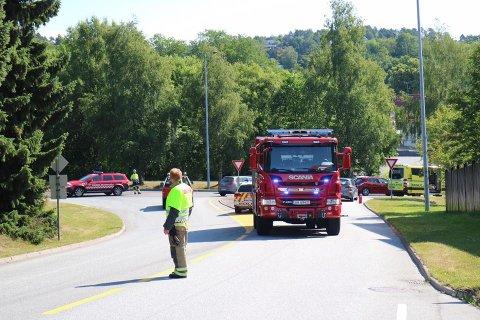 ULYKKE: Trafikkulykke i krysset til Haakon VIIs vei.