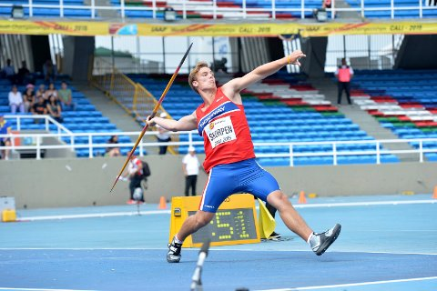 Alexander Skorpen i aksjon i junior-VM i Cali i 2015.