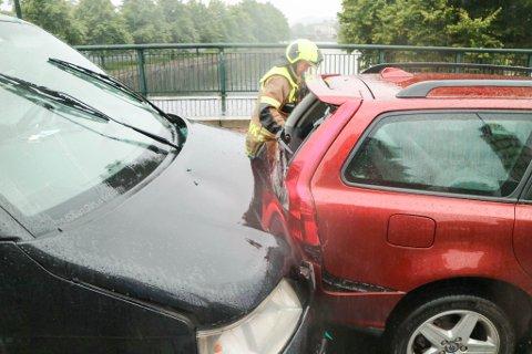 HAR MELDT SEG: Føreren av bilen som ble truffet først av Transporteren, klaget på smerter i nakken som følge av ulykken. Etter å ha lett etter ulykkessjåføren i fire uker, meldte han seg selv mandag ettermiddag.