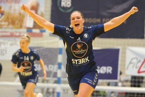 HERJET: Pernille Wang Skaug fra Halden banket inn 12 mål da Oppsal banket Gjerpen i eliteserien.