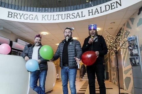 Bursdag: Brygga kultursal feirer 10 år på fredag. Fra venstre: Ole-Martin Nilsson, Martin Gundersen og Lars Gunnerud