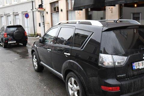 BILEN: Denne bilen er blitt ripet opp mandag