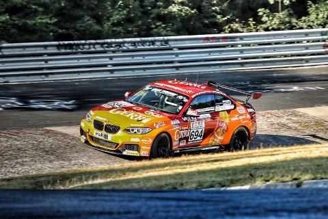 KJØRTE FORT: Inge Hansesætre kom på en meget sterk 2. plass i helgens løp på Nürburgring.
