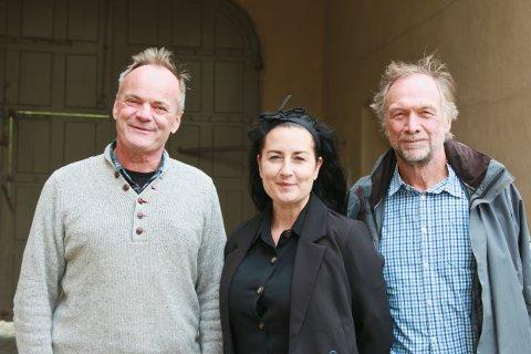 FESTNINGEN OG FREMTIDEN: Magne Rannestad, Silje Estella Haugerud Hansen og Morten Kjølbo er de tre som forvalter og formidler Fredriksten festning.