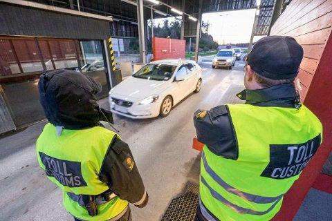 SPRAY: Tollerne på Svinesund har tilgang til pepperspray.