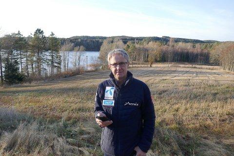 DEKNINGSDIREKTØR: Bjørn Amundsen er Telenors dekningsdirektør i Norge. Han har målt mobildekningen på Ør.