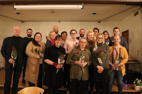 TIL VALG: Her er kandidatene som var på Aps nominasjonsmøte før jul, samlet.