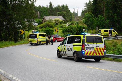 To personer er skadet etter en MC-ulykke ved Osdalen søndag ettermiddag.