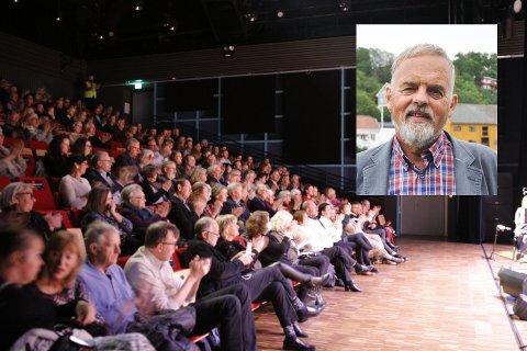 STILLER SPØRSMÅL: Dagfinn Stærk i Krf stiller spørsmål ved at 39 kommunestyrerepresentanter, som sitter på hver sin plass med god avstand, ikke kan møtes til kommunestyremøte i Brygga kultursal, når det kan arrangeres konsert med 200 personer der.
