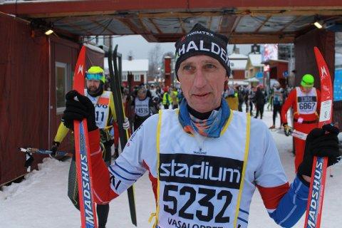 VETERAN: Bjørn Axel Gran gjennomførte et av sine aller beste vasalopp på søndag selv om han har gått lite på ski i vinter.