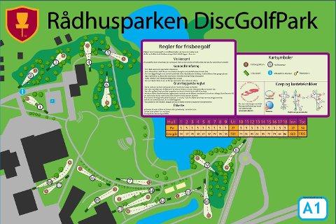 POPULÆR: Frisbeegolfbanen i Rådhusparken er populær. Å ha en slik bane midt i en grønn lunge skaper både glede og utordringer.
