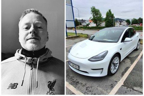 Kenneth Haeger fikk seg en overraskelse da han skulle finne ut av hva som var feil med den nye bilen.