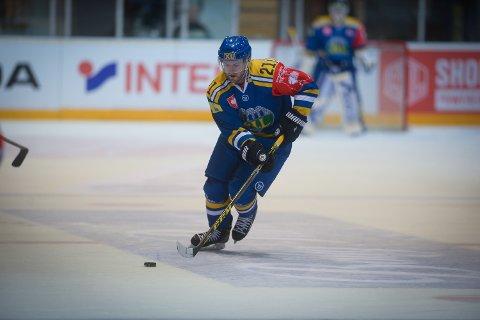 FIKK DET TØFT: Storhamar og Jaokim Jensen tapte 4-3 mot TPS i 1/8-finale i Champions Hockey League.