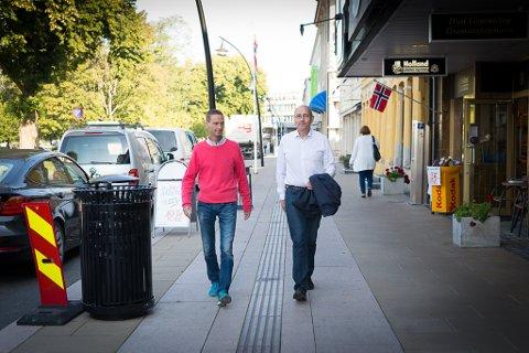 BILLIGERE: Karsten Kamp og Erling Behrens vil ha en billigere drift av Hamar kommune.