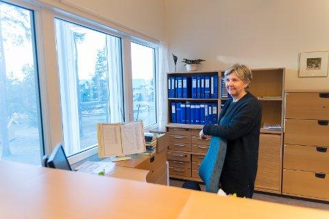 SPENT: Rektor Sissel Bakke Tvedten er spent på hvordan den nye utvidede skolen blir.