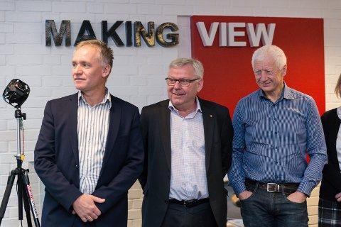 SUKSESS SAMMEN: Hamars næringssjef, Svein Frydenlund, Elverum-ordfører Erik Hanstad og Hamar-ordfører Einar Busterud.