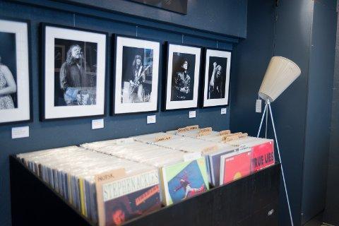 UTVALG: Rundt 5.000 LPer er for salg inne hos Vinyl & Kaffe.