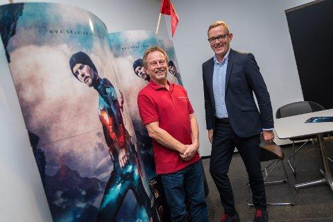 LOKAL DRAHJELP: - «Cave» vil løfte kinobesøkstallene, spår Espen Jørgensen og Tor Rullestad.