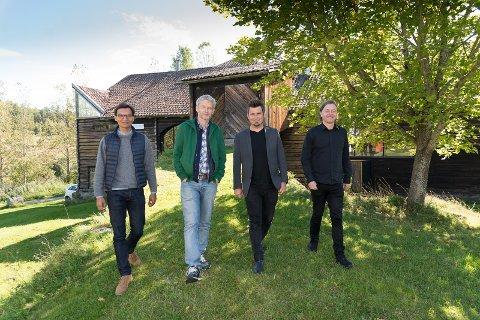 STANGEBESØK: Erwan Castain, Vlastimil Spelda, Jens Haugen og Kjetil Wold på Sørum gård.